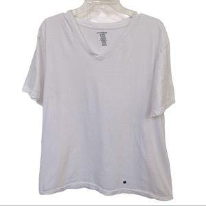 ❤️ LUCKY BRAND White V neck T Shirt Size XL ❤️